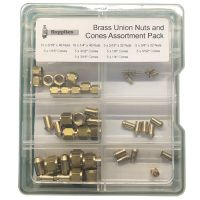 Brass Union Nuts and Cones Assortment Pack