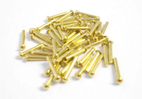 """3/64"""" x 1/4"""" Brass Rivets Qty 50"""