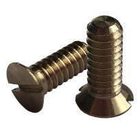 """3/16"""" BSW x 1/2"""" Countersunk Slotted Brass Screws (pck 10)"""