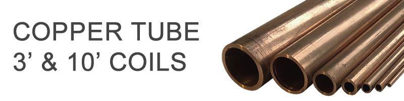 Copper Tube - 3' & 10' Coils