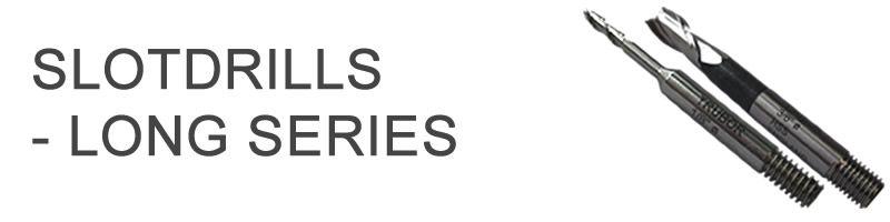 Long Series Slotdrills - Threaded Shank