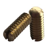 """3/16"""" BSW x 1/2"""" Slotted Grub Screws (pck 10)"""