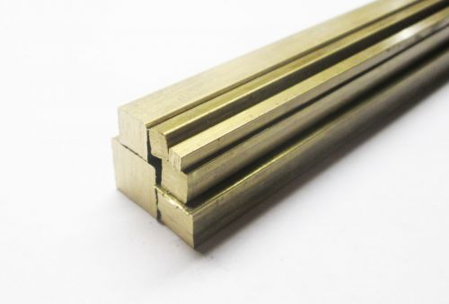 """Stock Pack 8 Brass Square 6"""" Lengths"""