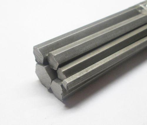 "Stock Pack 7 Stainless Steel Hexagon 6"" Lengths"