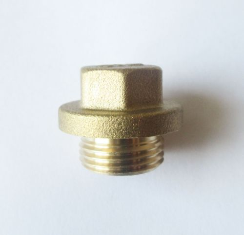 "1/4"" BSP Brass Flanged Plug"