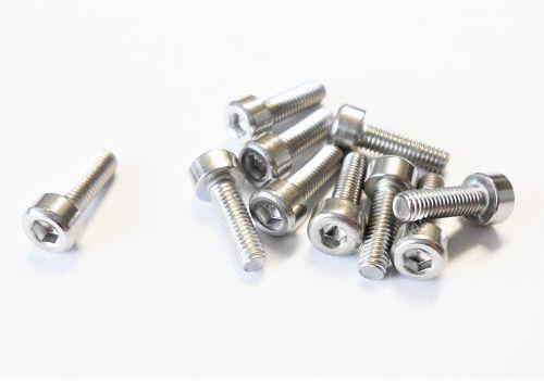 M4 x 12 Stainless Steel Socket Cap Screws - Qty 10