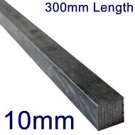 "10mm Stainless Steel Square Bar - 12"" Length"