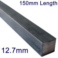 "12.7mm (1/2"") Stainless Steel Square Bar - 6"" Length"