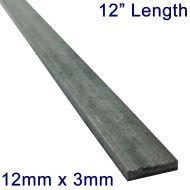 "12mm x 3mm Stainless Steel Flat Bar - 12"" Length"