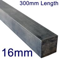 "16mm Stainless Steel Square Bar - 12"" Length"