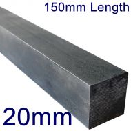 "20mm Stainless Steel Square Bar - 6"" Length"