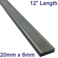 "20mm x 6mm Stainless Steel Flat Bar - 12"" Length"