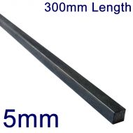 "5mm Stainless Steel Square Bar - 12"" Length"
