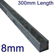 "8mm Stainless Steel Square Bar - 12"" Length"
