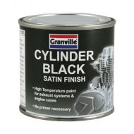 Granville Cylinder Black Satin Finish High Temperature Paint - 250ml Tin