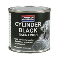 Granville Cylinder Black Satin Finish High Temperature Paint - 250ml Tin