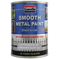 Granville Hammered Finish Metal Paint - Silver Grey - 750ml Tin