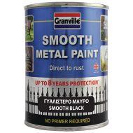 Granville Smooth Finish Metal Paint - Black - 750ml Tim