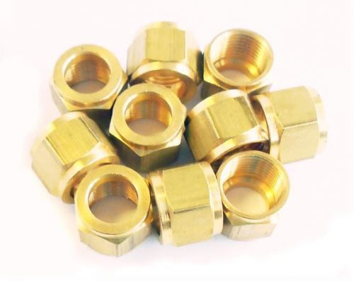 "5/16"" x 32 Brass Union Nut for 3/16"" Pipe"