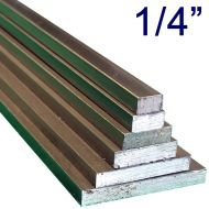 "1/4"" Steel Flat Assortment Pack - 24"" Lengths"