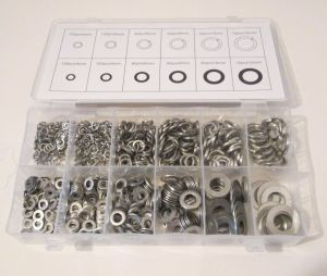 790 pc Stainless Steel Washer Assortment Box