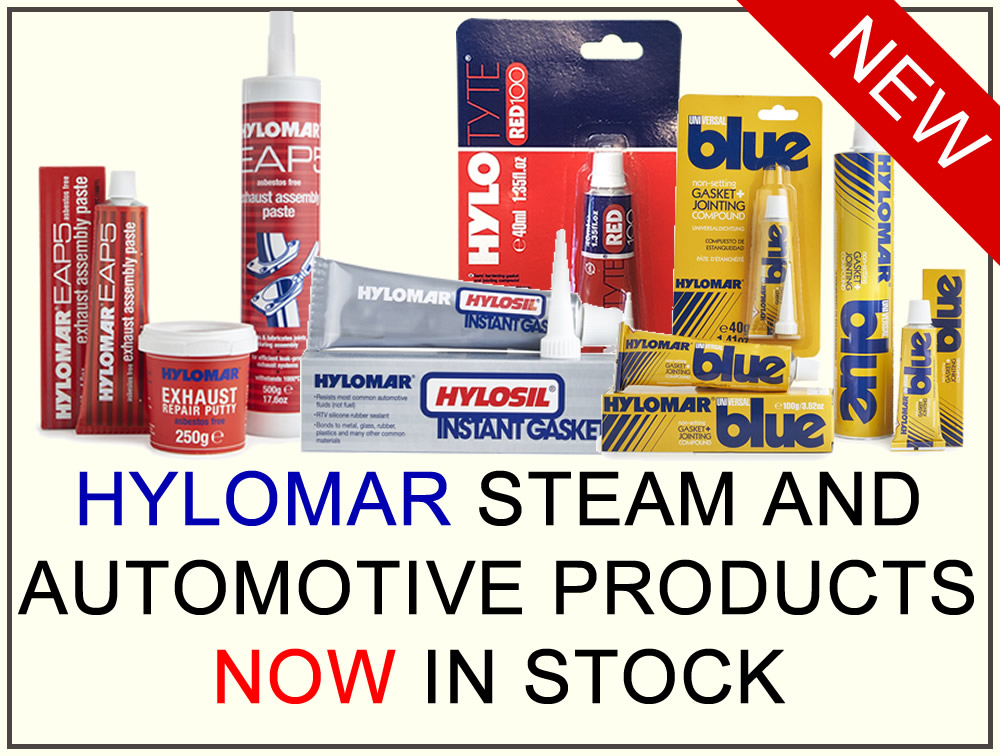 Hylomar Steam and Automotive Products NOW In Stock.