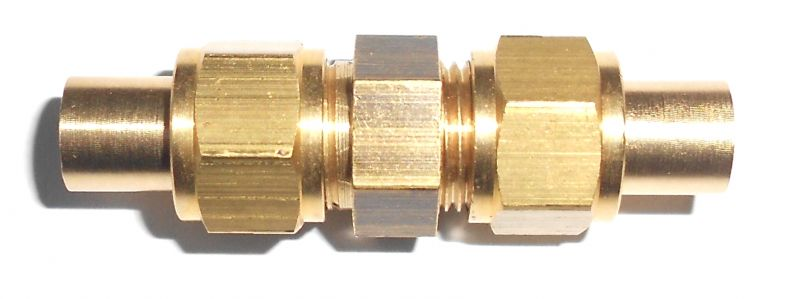 Quot pipe brass double straight union ekp