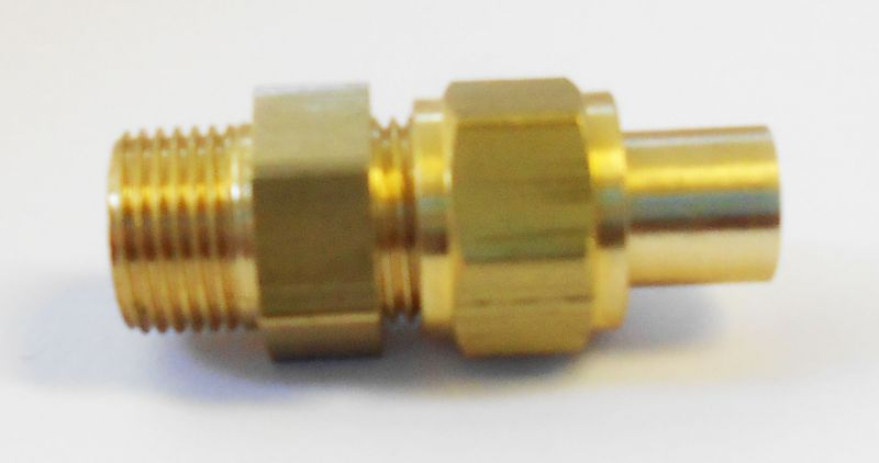 Quot  pipe brass single straight union ekp
